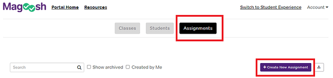create individual assignment