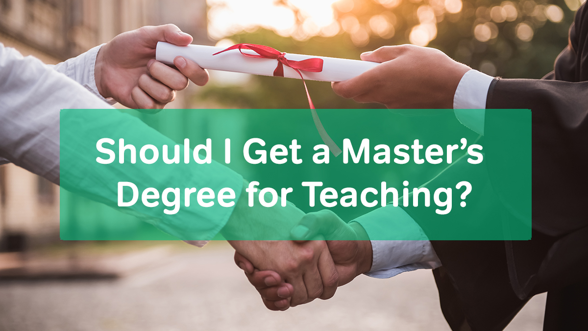 masters for teaching